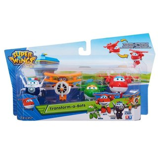 Super Wings Mini Transform a Bots (Jett/Mira/Paul/Grand Albert)
